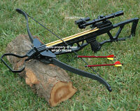 180LB HUNTING CROSSBOW + 4x20 SCOPE + 14 ARROWS 180 LB