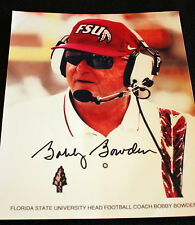 BOBBY BOWDEN SIGNED AUTOGRAPHED FLORIDA STATE 8x10