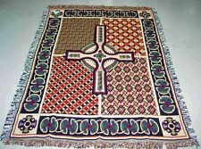 Celtic Cross Tapestry Afghan Throw