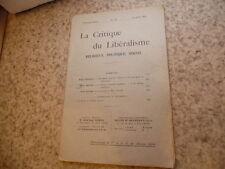 1909.La critique du libéralisme.N°11.Barbier