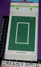 COGS AND WHEELS EMBOSSING PLUS 1 FOLDER DRY EMBOSS CUTTLEBUG NIP GEARS