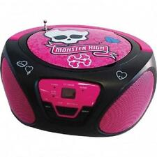 NEW*Monster High*CD PLAYER BOOMBOX*Aux-In For MP3 Player*BLACK/PINK*Girls Kids