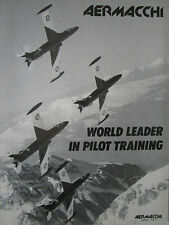 3/1989 PUB AVION AERMACCHI MB-339 MILITARY JET TRAINER ORIGINAL AD