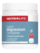 NUTRA LIFE - ORGANIC MAGNESIUM COMPLETE 120T - MUSCLE CRAMPS + FREE SAMPLE