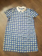 Cute Vintage Style Collar Daisy Pattern Spring Mini Shift Dress size 16/18