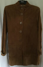 South Ladies Suede/Leather Brown Coat, size 18