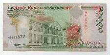 SURINAME SURINAM 10000 GULDEN 1997 PICK 144 LOOK SCANS