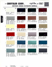 1967 PLYMOUTH SATELLITE CHRYSLER DODGE CHARGER CORONET RAMBLER PAINT CHIPS MS 11