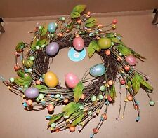 "Easter Wreath 10"" Natural Looking Twigs & Sticks Glitter Eggs 111M"