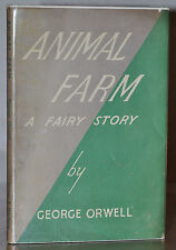1ST/1ST UK EDITION W. ORIGINAL DUST JACKET~ ANIMAL FARM ~ GEORGE ORWELL