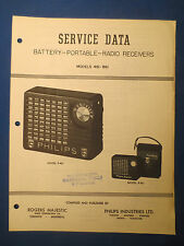 ROGERS MAJESTIC PHILIPS P-461 R-861 RADIO SERVICE MANUAL ORIGINAL FACTORY ISSUE