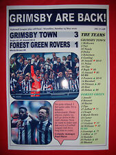Grimsby Town 3 Forest Green Rovers 1 - 2016 play-off final - souvenir print