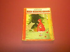 LITTLE RED RIDING HOOD Rand McNally & Company Chicago 1934 Book-Elf
