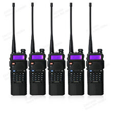 5 PCS BaoFeng UV-5R UHF/VHF Radio Transceiver 3800mah Battery Walkie Talkie