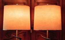 Pair Danish Atomic Modern Table Lamp Shades ONLY Vintage Retro MCM Mod