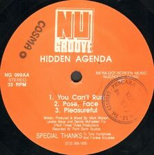 Hidden Agenda – Don't Fight It / You Can't Run - Nu Groove - NG 099