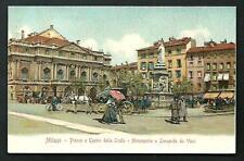 Milano : Piazza e Teatro della Scala -  cartolina non viaggiata, ca. primi '900
