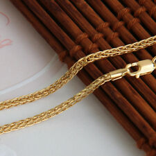 18INCH 18K Yellow Gold Necklace 2mm Wheat Link Chain Stamp: Au750