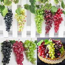 High Bunch Lifelike Artificial Grapes Plastic Fake Fruit Food Home Decoration