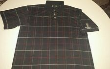 St. Andrews Of Scotland Embroidered Men's XL Plaid Short Sleeve Polo Golf Shirt