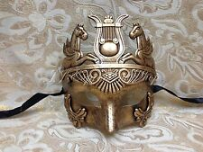 Gold Hercules Warrior Roman Greek Venetian Masquerade Prom Men's Mask