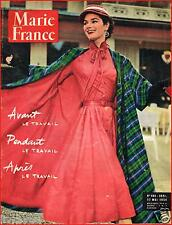 ▬►Marie France 492 de 1954 MODE FASHION BALMAIN_ZIZI JEANMAIRE (2 pages)