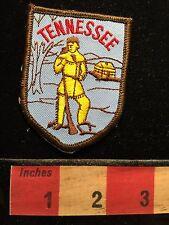 Vtg Tennessee Patch ~ Frontiersman Davy Crockett Perhaps 69U4