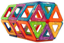 Magnetic Power Rainbow Magformers 30 pc Set Triangle Square Build Toy Boy Girl