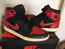 Air Jordan 1 Bred 2001 Red Black 10 White 6 4 3 5