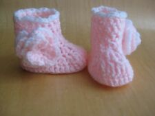 Handmade crochet knitted winter boots/prams for baby girls from 0-3month