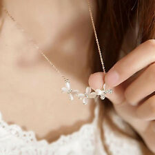 Korean Style Elegant Butterfly Crystal Design Jewelry Lady Chain Short Necklace