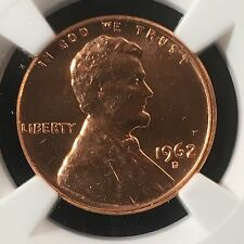 1962-D 1C RD Lincoln Wheat One Cent  NGC MS66RD  3653651-012     Q-370