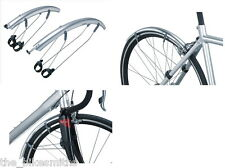 Topeak DeFender R1/R2 Road Bike Fender Set Mud Guard Front& Rear Silver 700c QR