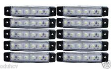 10 pz x 24V 6 LED Luci Indicatore Laterale bianco per Iveco Volvo Daf Scania Man