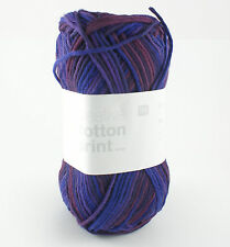 Rico Creative Cotton Aran Print Knitting & Crochet Yarn - Berry Mix 011