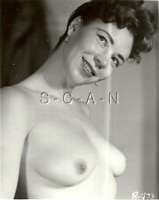 Original Vintage 1940s-60s Nude RP- Mature Woman- Close Up Photo- Big Smile