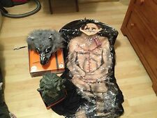LOT 3 PROPS Animated WEREWOLF RUG MEDUSA SNAKES BODY ZOMBIE CADAVER BODY BAG