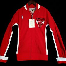 100% Authentic Mitchell & Ness Bulls Warm Up Shirt Jacket Size S 36 - jordan