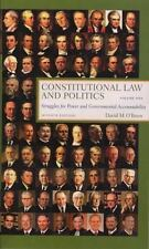 Constitutional Law and Politics: Struggles for Power and Governmental Accountabi