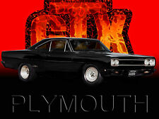 Plymouth GTX Classic car tin metal sign.