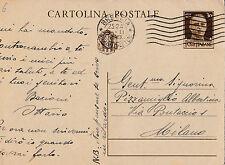 CARTOLINA POSTALE CENT.30 1941 DA BRESCIA A MILANO   C3-6