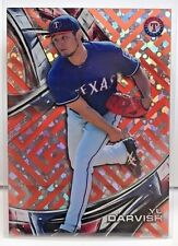 Yu Darvish 2016 Topps High Tek RED ORBIT DIFFRACTOR Maze Grid SSP - RANGERS