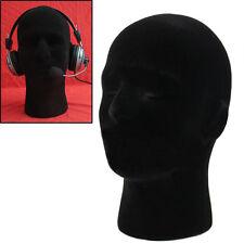 Styroporkopf Schwarz Perückenkopf Hutständer weiblich männlich Schulter Dekor 1p