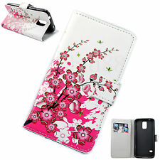 Flip Leather Phone Protector Wallet Cover Case For Samsung Galaxy S5 S V i9600