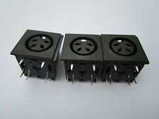 8 pcs S Terminal DIN Jack 4 pin Circular Jack Female PCB Mount Connector