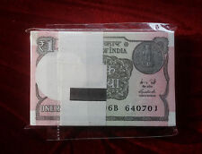 India ,1 Rupee Note Bundle of 100 notes ,Crisp UNC note New Issue 2016 Full Pack