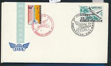 98192) Belgien AEROPHILA 1963, SoU FISA-Congres Vignette rocket space SST rot