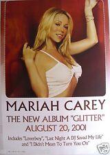 "MARIAH CAREY ""GLITTER"" AUSTRALIAN PROMO POSTER - Wearing Sexy, White Bikini Top"