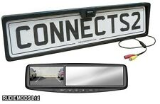 Connects2 Rear Number Plate Reverse Camera and Rear View Mirror Monitor