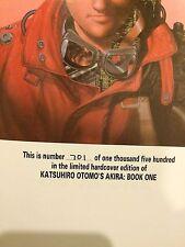 ULTRA RARE HAND NUMBERED 701/1500 - AKIRA Volume 1 by Katsuhiro Otomo HARDCOVER
